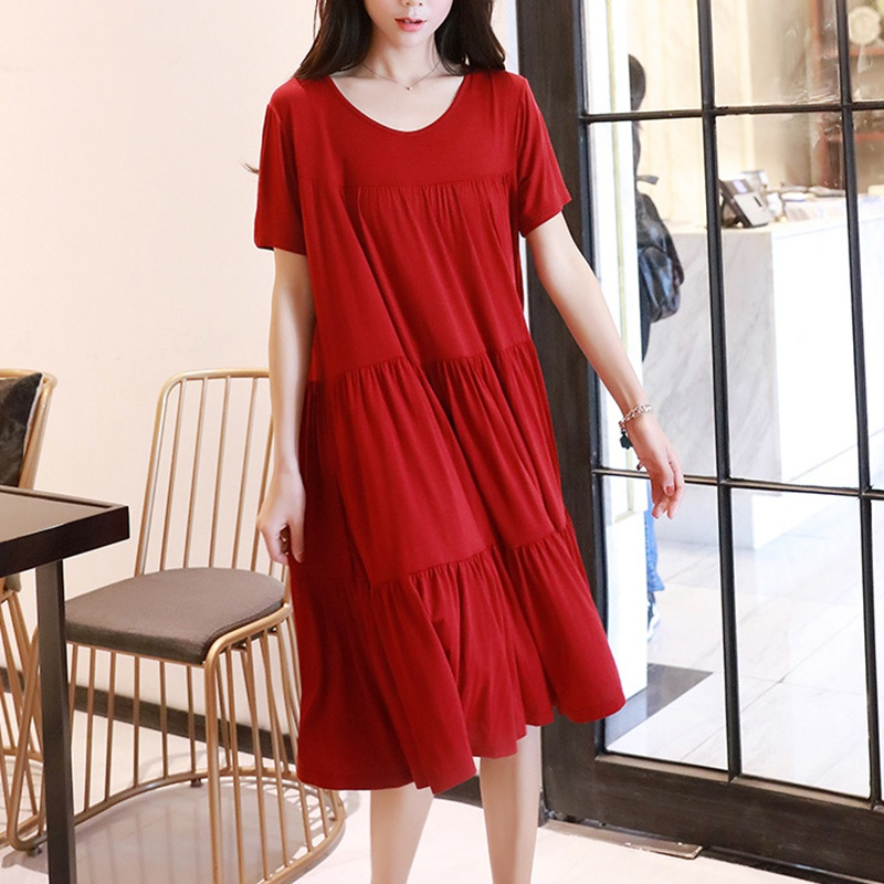 Элегантный Для женщин беременных платье для сна Женская одежда для кормления грудью, одежда для сна, матерей Повседневная для кормления спальный халат ночные рубашки для девочек - Цвет: Red    Large Size