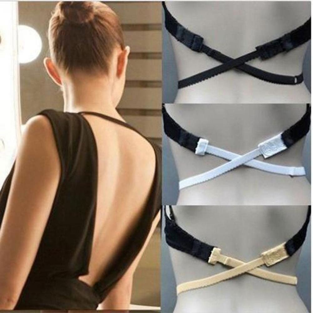 1PC Summer Hot Sale Lady Low Back Backless Bra Strap Adapter Converter Fully Adjustable Extender Hook Women Clothing Accessories