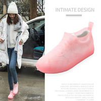 KESMAll Водонепроницаемый многоразовые покрытие на обувь от дождя резиновые скольжению дождь загрузки галоши Для мужчин и женская обувь аксес...