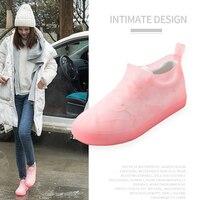 KESMAll водонепроницаемое многоразовое покрытие на обувь от дождя Резиновые Нескользящие непромокаемые сапоги обувь для мужчин и женщин аксе...