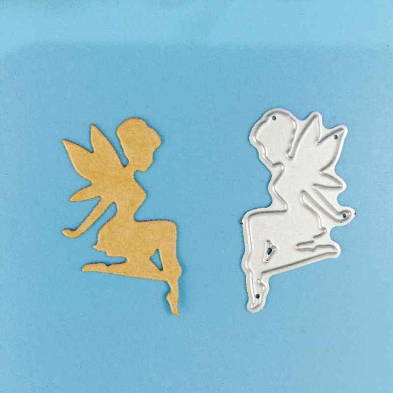 Troqueles de corte de Metal de hadas plantilla DIY Scrapbooking álbum sello Tarjeta de papel repujado manualidades Decoración