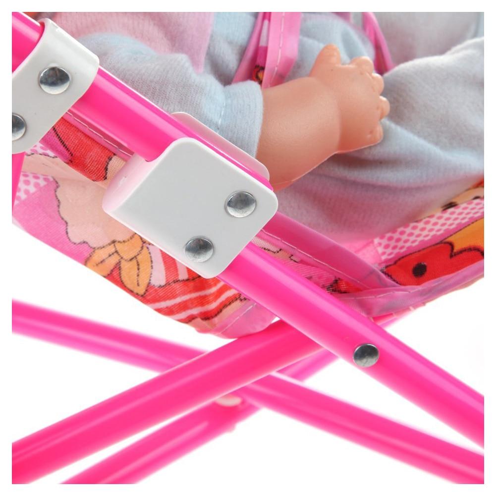Wholesale!Dolls Buggy Stroller Pushchair Pram Foldable Toy Doll Pram Baby Doll