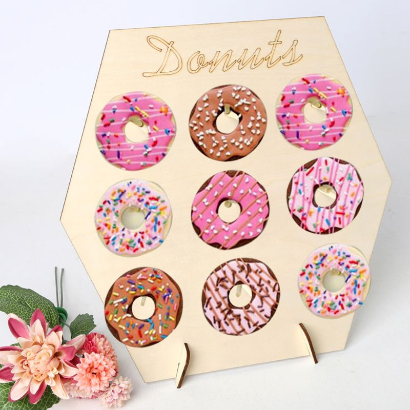 Donut Doughnut Wall Stand Party Wedding Favour Birthday Sweets Candy Cart Decor