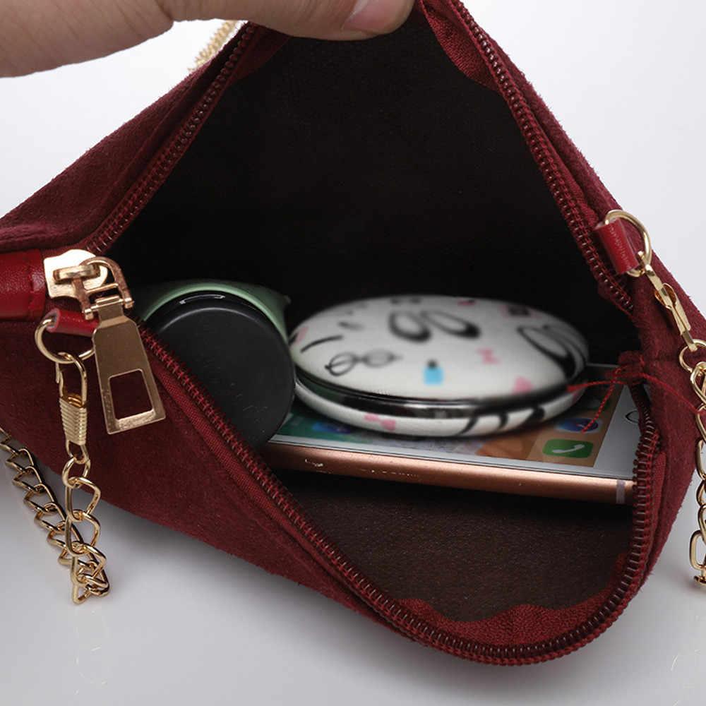 Для женщин сумка Hairball одноцветные замшевые Crossbody Clutch плечо телефон sac основные женские сумки для Для женщин 2019 bolsa feminina