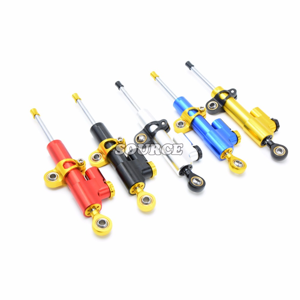 Universal Aluminum Motorcycle CNC Steering Damper For Kawasaki ZX-6 W800 SE NINJA 650R VERSYS ZZR600 ZXR400 GPZ500S EX500R NINJA front shock absorber fork damper oil seal for kawasaki zx600 ninja zx6 90 01 zx 6rr zzr 600 zx636 zx6r kle650 versys motorcycle
