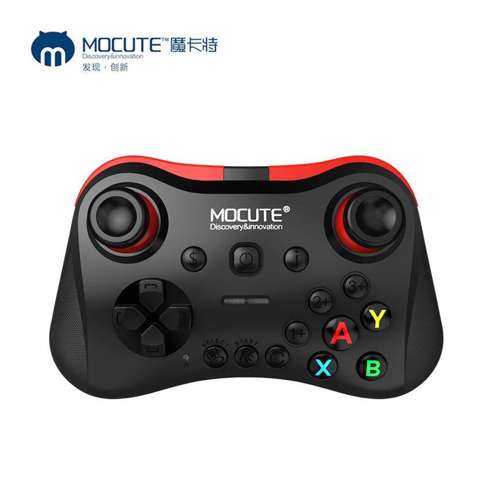 MOCUTE 050 056 058 054 051 VR Game Pad Joystick Android controlador Bluetooth Selfie Control remoto obturador Gamepad para PC teléfono