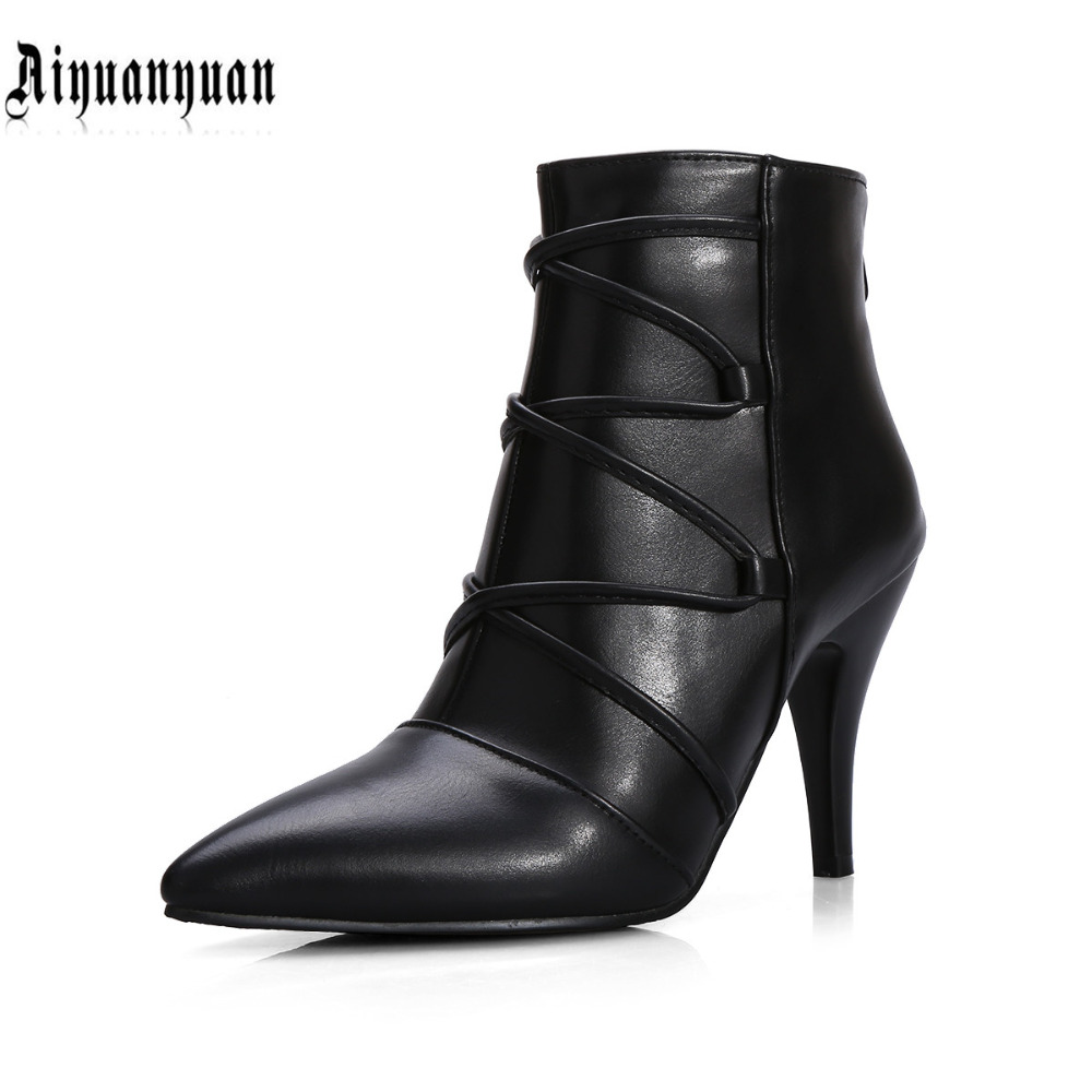Здесь можно купить   2016 New arrival EUR plus size to 39 40 41 42 43 44 zipper design women PU ankle boots most countries FREE SHIPPING Обувь
