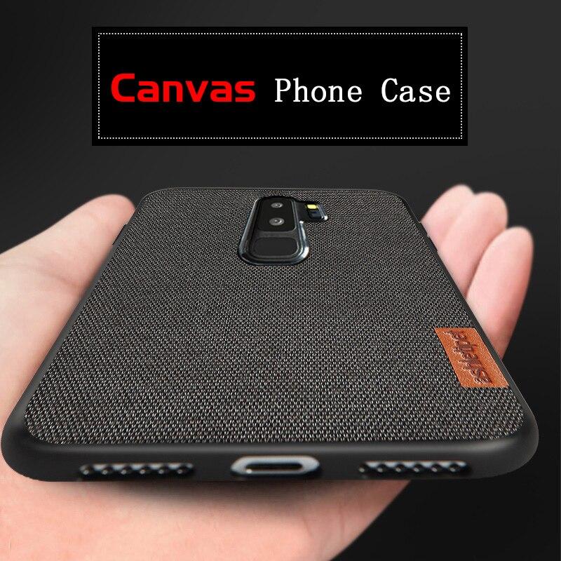 Холщовый чехол для телефона samsung Galaxy S9 S8 Plus S7 Edge Note 9 8 A7 A8 J5 J7 противоударный мужской деловой старинная ткань Capas