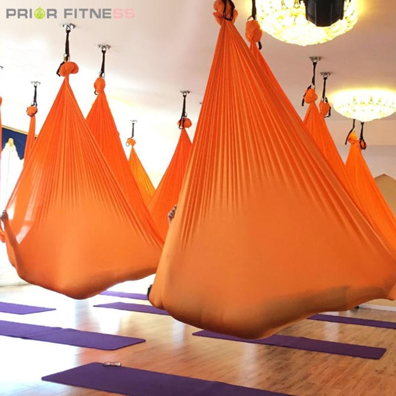Elastic 6 meters 2019 Aerial Yoga Hammock Swing Latest Multifunction Anti gravity Yoga belts for yoga