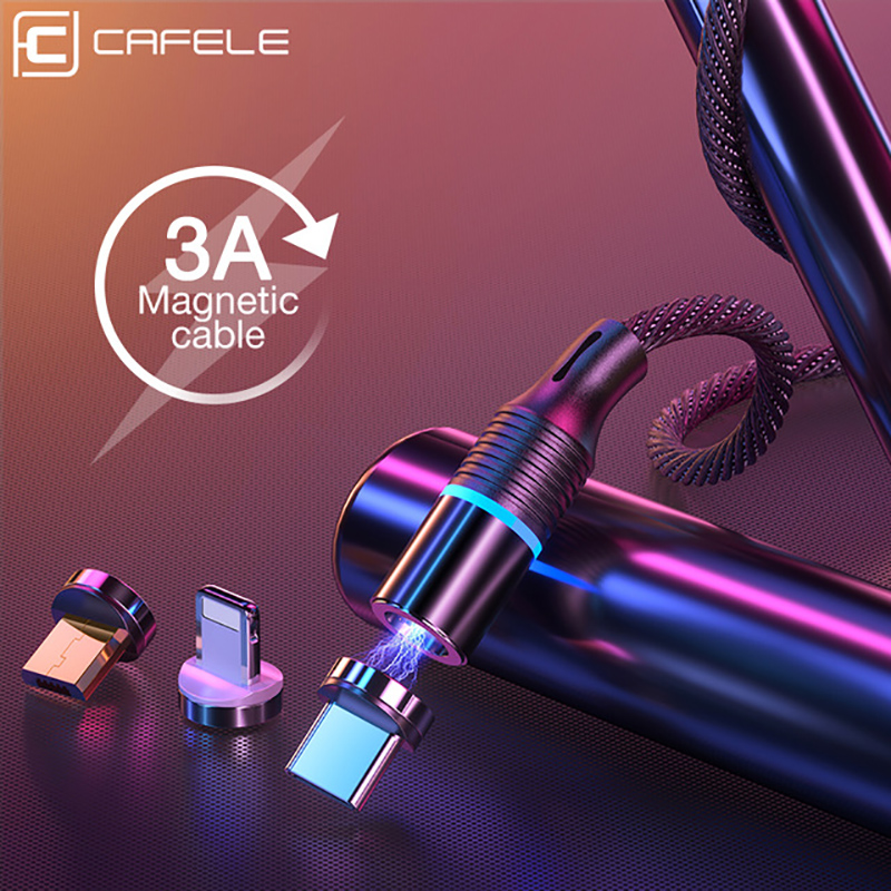 Cafele Magnetic Micro USB Cable For iPhone Samsung Type c Charging Charge Magnet Charger Adapter USB Type C Mobile Phone Cables|Mobile Phone Cables| |  - AliExpress