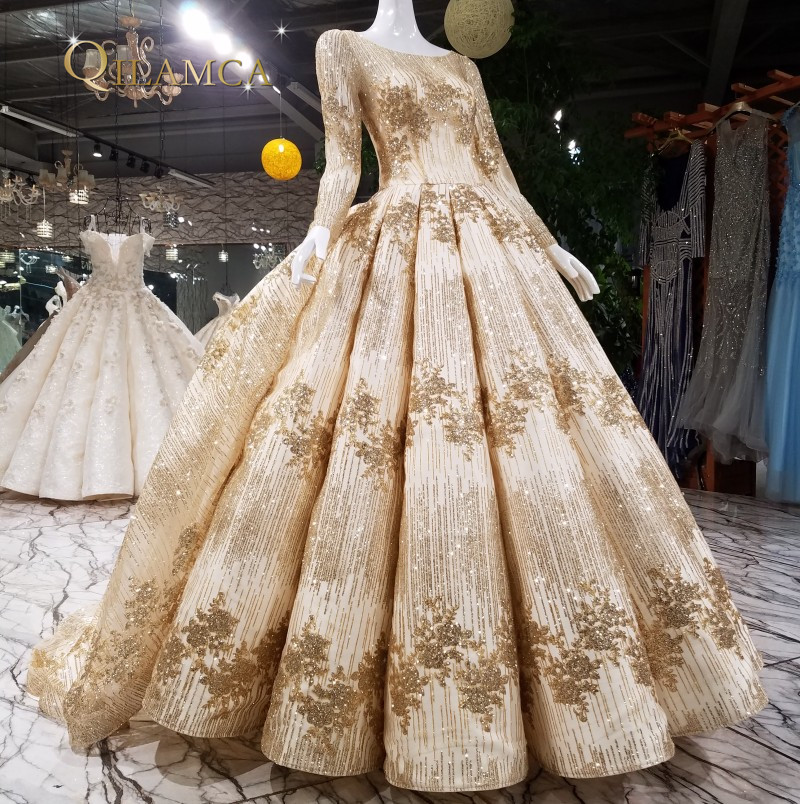 213cbf9bc623 Luxury Evening Dress Heavy Beading long Sleeve ball gown 2018 new arrival  Party Prom Dresses Real Photo from china
