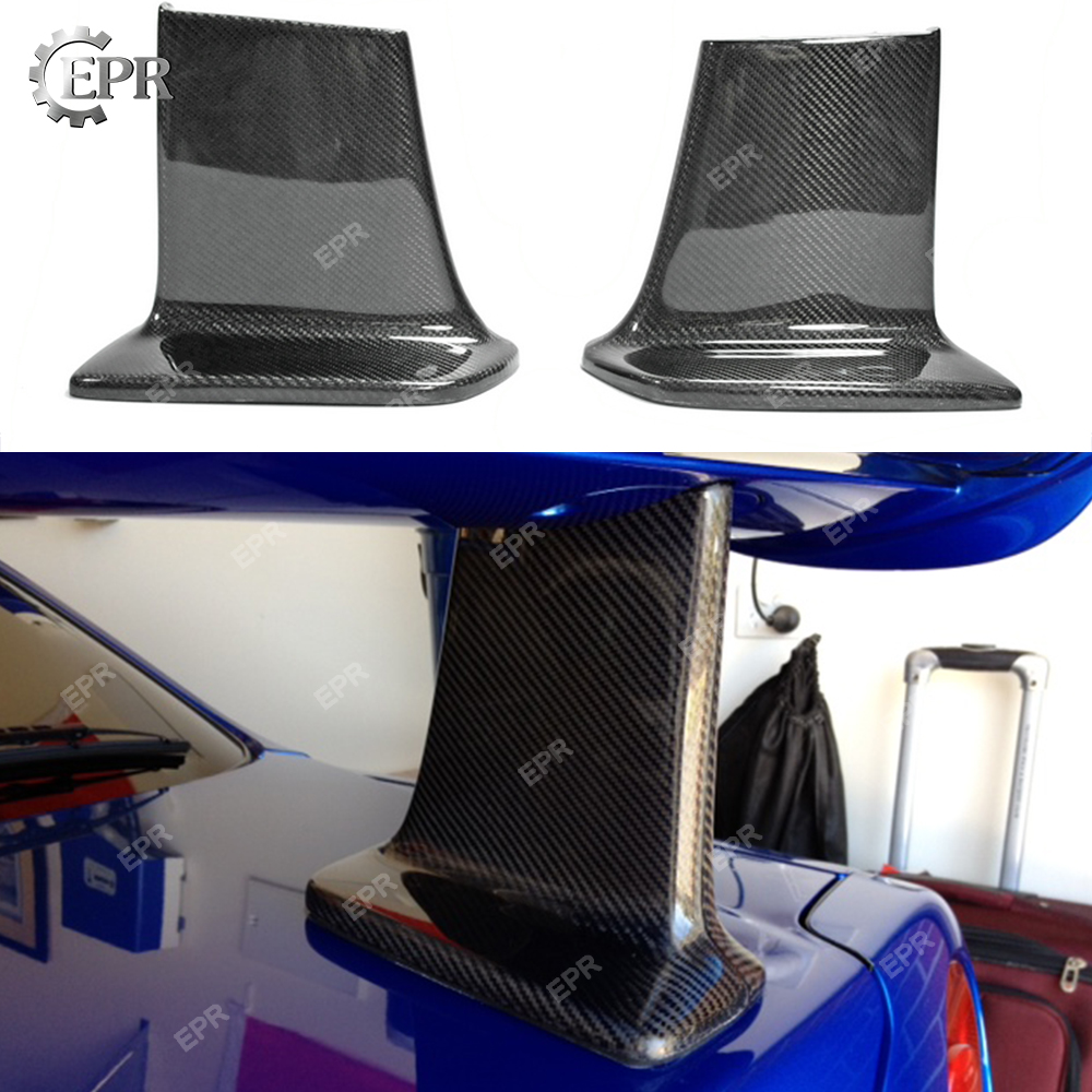 Pour Nissan horizon R34 GTR fibre de carbone JUN haut Spoiler jambe Auto Tuning partie pour GTR R34 carbone JUN jambe d'aile arrière