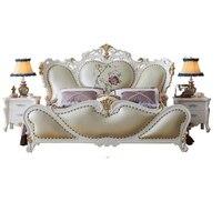 Дети Matrimonio рамка Mobili Lit Enfant Meuble De Maison Yatak одаси Mobilya кожа Mueble мебель для спальни Кама Moderna кровать