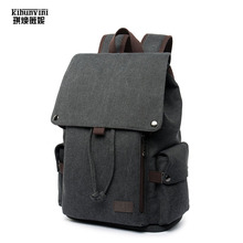 Купить с кэшбэком Canvas Backpack Men Drawstring Laptop Backpacks Man's Mochila Backpacking Big Shoulder Bag Large Travel Bags Schoolbag Boys Sac