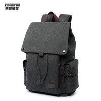 Canvas Backpack Men Drawstring Laptop Backpacks Man's Mochila Backpacking Big Shoulder Bag Large Travel Bags Schoolbag Boys Sac