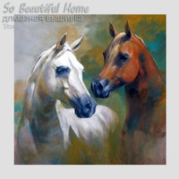 Horse 5D Diy Diamond Mosaic Painting Full Area Square Diamond Picture Cross Stitch Embroidery Unfinish Wall