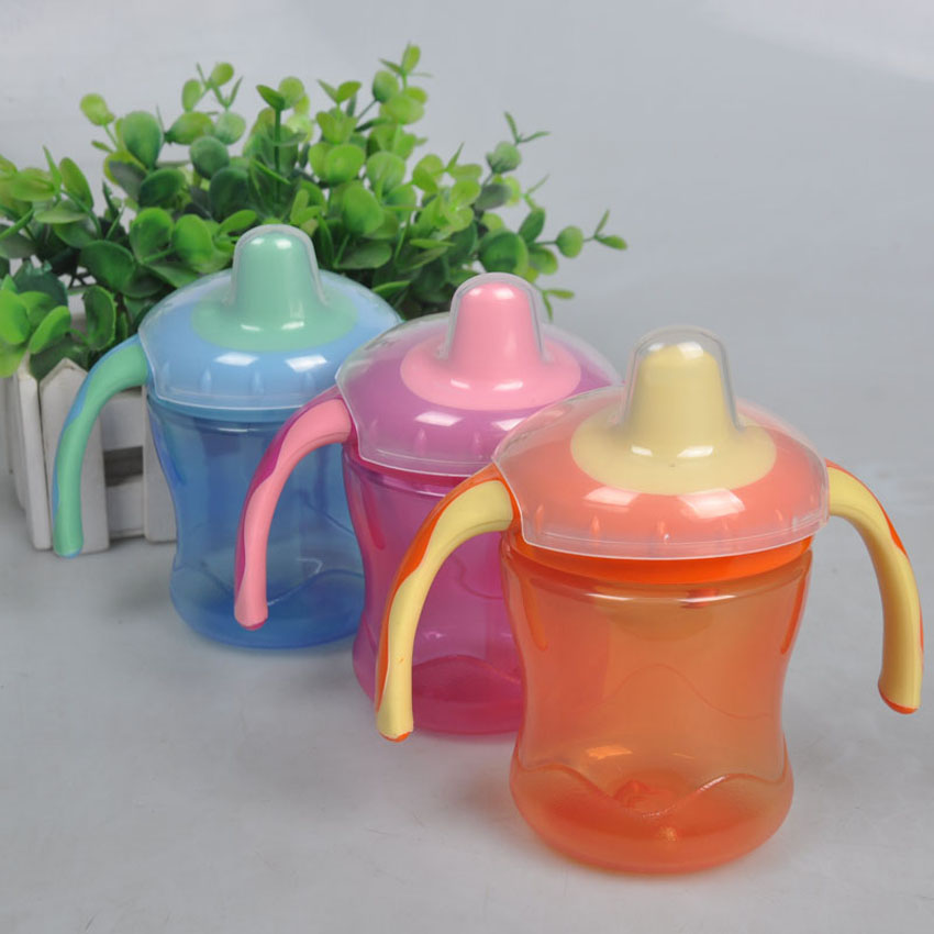 Brand Baby Feeding Bottle Kids Water Milk Bottle Soft Mouth Duckbill Sippy Infant Training Baby Feeding Bottles Cups for Babies