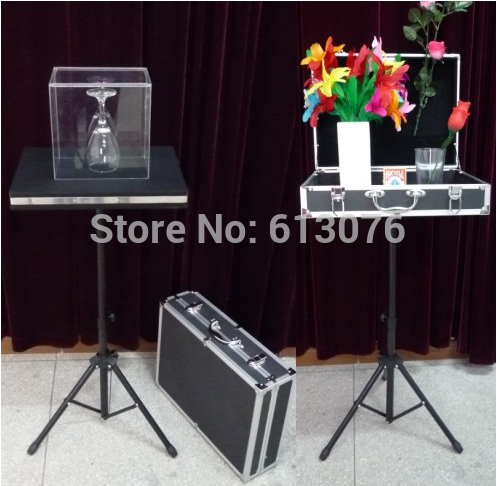 Glass Breaking Table and Coin Into Glass- Remote Control,With Carrying Case,Magic Tricks,Stage,Illusion,Mentalism,Gimmick,Props glass breaking table with aluminium case magic table combination tricks stage gimmick illusions accessories mentalism