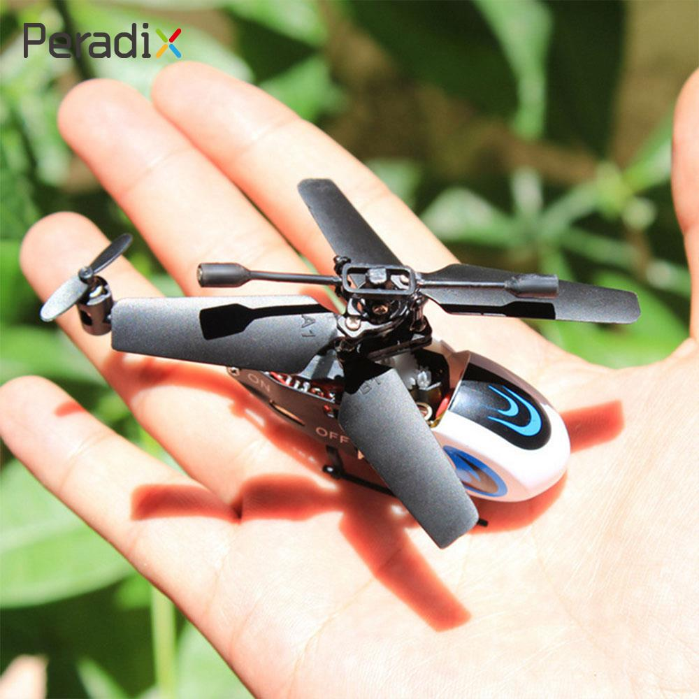 Peradix Miniature RC Helicopter Creative High Quality Flashing 2 Channels Mini Helicopter Model Remote Control Toy