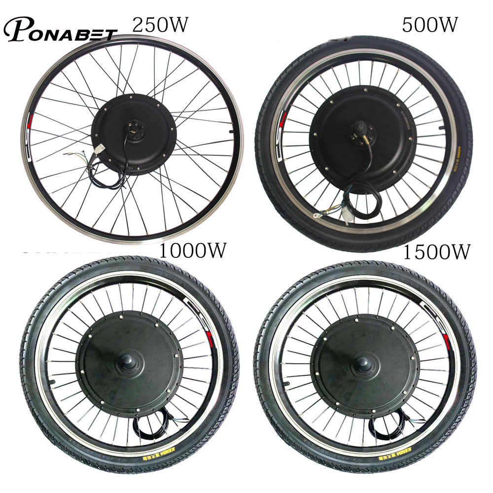 Ebike Electric Rear Motor Conversion Wheel Without Battery 20 26 27.5 27 28 29 inch 250w 500w 1000w 1500w E Bike Parts 36V 48V