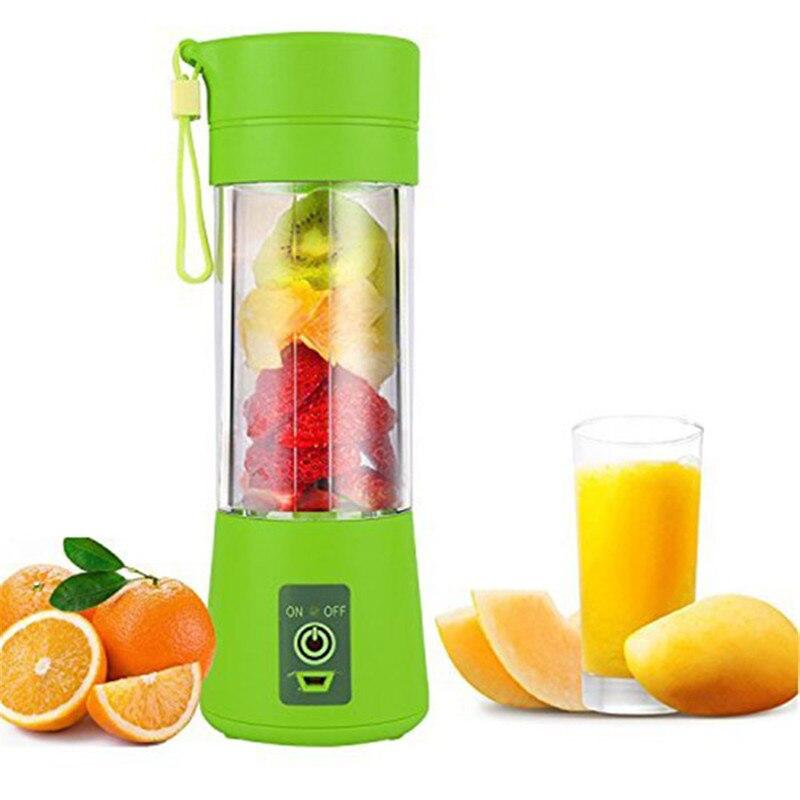 400ml de Suco Espremedor de Frutas Máquina de Mistura USB Copo Portátil Liquidificador Doméstico Misturador de Frutas com Seis Lâminas