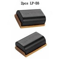 2PCS LP E6 LP E6 7 4V 2200mAh Rechargeable Lithium Battery For Canon 5D2 5D3 5D