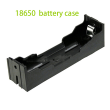 100pcs High Quality Plastic Black 3.7V 18650 Battery Storage Holder Box Case With Wire Leads For 18650 Batteries Holder