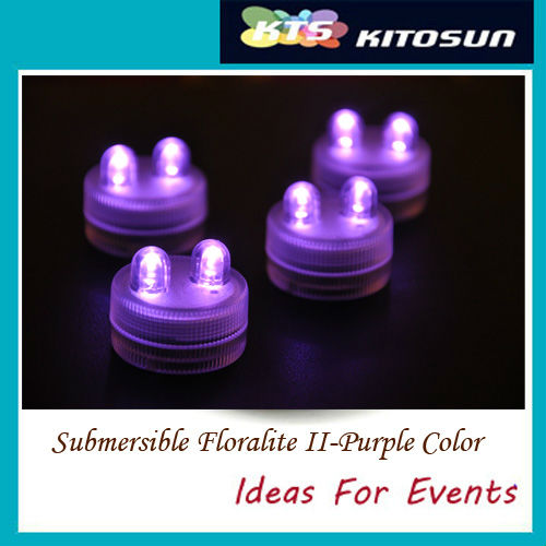 Good Quality 50pcs/lot 11 Colors For Option Party Centerpiece Decorative Mini Led Waterproof Outdoor Party Dual Lights