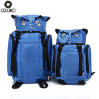 2017 Newest Stylish Cool Owl Backpack Cartoon Cute Laptop Backpack Waterproof For Women Men Travel Backpack