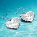 MS 925 серьги стерлингового серебра. корейский поп серьги в форме сердца кулон. гравировка букв любовь подарок. Оптовая и розничная