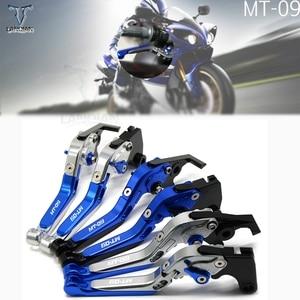 Image 1 - אביזרי אופנוע אלומיניום מתכוונן בלם מצמד מנופי עבור ימאהה FZ09/MT09/SRNOTFJ 09 2014 2015 2016 2017 2018