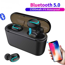 TWS Bluetooth 5.0 Earphones Ture Wireless Earphone Handsfree Sports Earbuds Gaming Headset 1500mah HBQ Q32