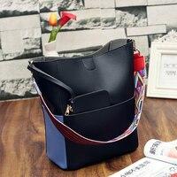 Tara Sergy Fashion Women Bag Leather Two Set Purse And Handbags Famous Brands Designer Handbag Bucket
