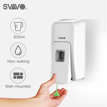 SVAVO 600ml ABS Manual liquid Soap/Spray/ Foam Soap Dispenser Wall Mounted Hand Soap Dispenser For Kitchen Hotel Bathroom 500ml 2 wall mounted hand pressing double soap dispenser hotel bathroom abs plastic liquid soap dispenser