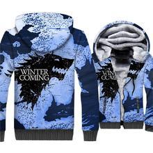 Game Of Thrones 3D Print Hoddies Men 2018 New Fashion Stark House Jackets Wolf Winter Is Coming Harajuku Men's Sweatshirts Hoody цена