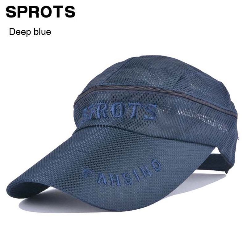 cool fishing baseball hats dual male summer sunscreen cap hiking sunbonnet hat empty head removable man sport casual breathable caps uk salmon embroidered bas