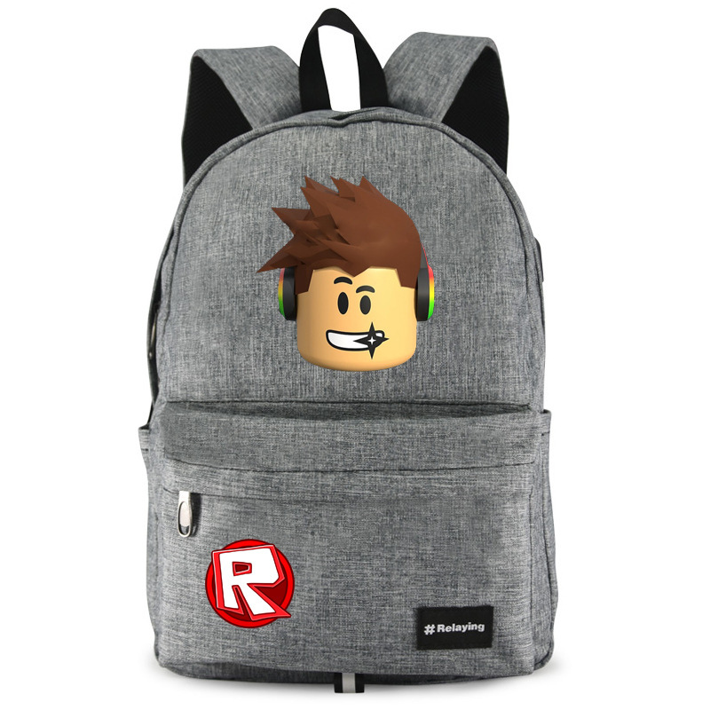 Roblox Printed Backpack Children School Bag Big Size USB Charge Waterproof Game Cartoon Action Figure Toys Kid Birthday Gift lady bug dolls