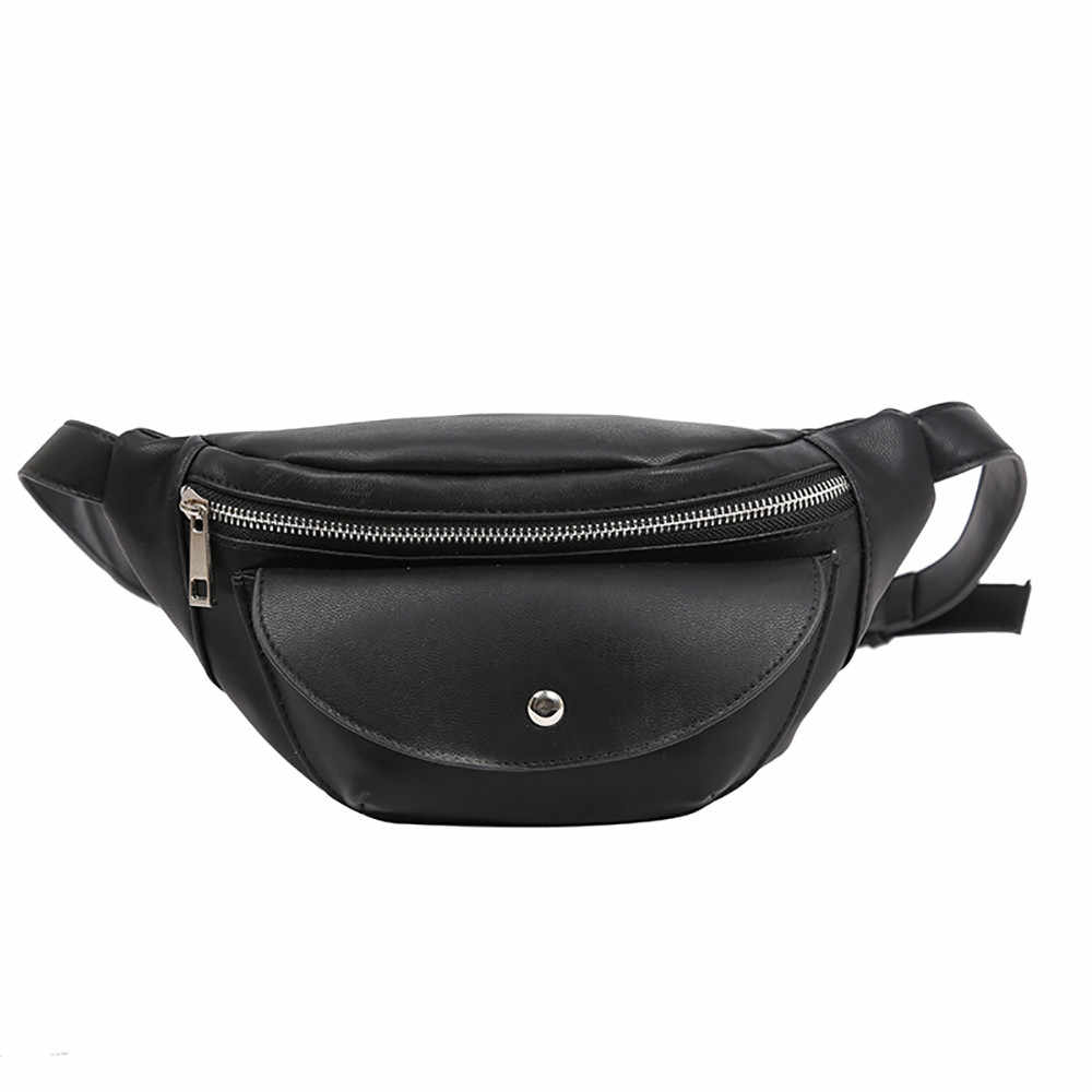 Molave Wanita Dada Tas Fashion Rantai Kulit Messenger Casing Bahu Casing Wanita Zipper Kapasitas Besar Uang Pinggang Paket