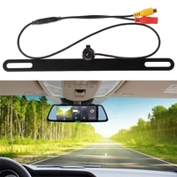 Universal IP67 Square Shape Car Rear Reverse License Plate Parking Rearview Backup Camera 1 4 Inch
