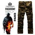 Высочайшее Качество 2016 Новых Прибытия мужские Камуфляжные брюки-Карго Военные Повседневные Брюки Общие Брюки Для Мужчин