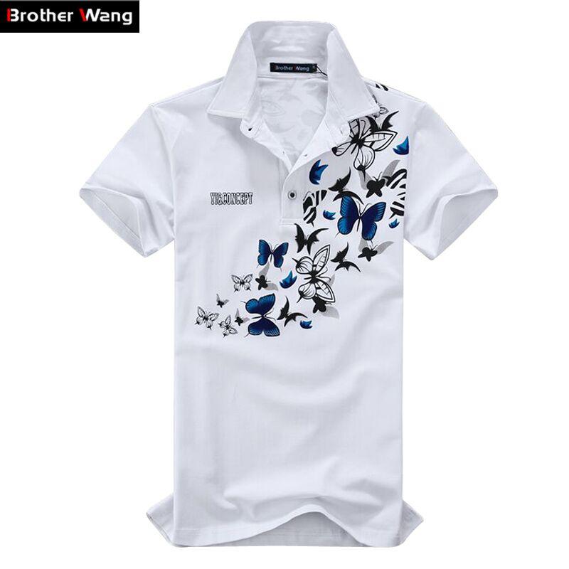 Men large size printing   POLO   shirt 2017 new Cotton Leisure Short sleeve summer   Polo   Men's fashion lapel Brand clothes 5XL 6XL