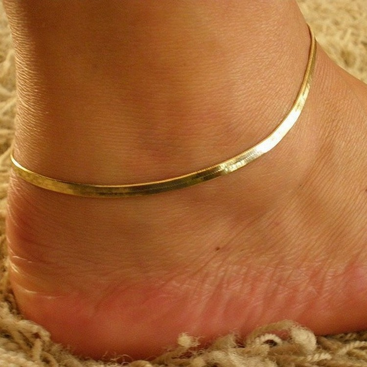 Europe And The United States Fashion Metal Chain Fine Fish Scales Anklet High-grade Snake Bone Chain Bracelet Jewelry