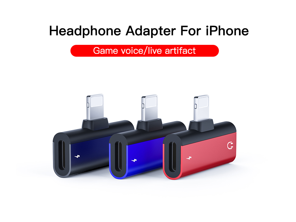 !ACCEZZ 2 in 1 Charging Audio Calling Adapter For iphone X 8 Plus XS IOS 12 Lighting Charge Jack to Earphone AUX Splitter Cable (2)
