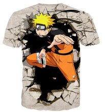 Anime Naruto 3D Hip Hop Casual T-Shirt