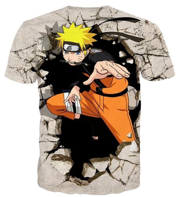 Anime Naruto 3D Hip Hop Casual T-Shirt