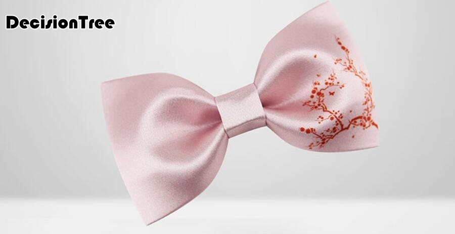 2019 summer bow print chinese style window flower banquet wooden bow tie business wooden tie package gift box
