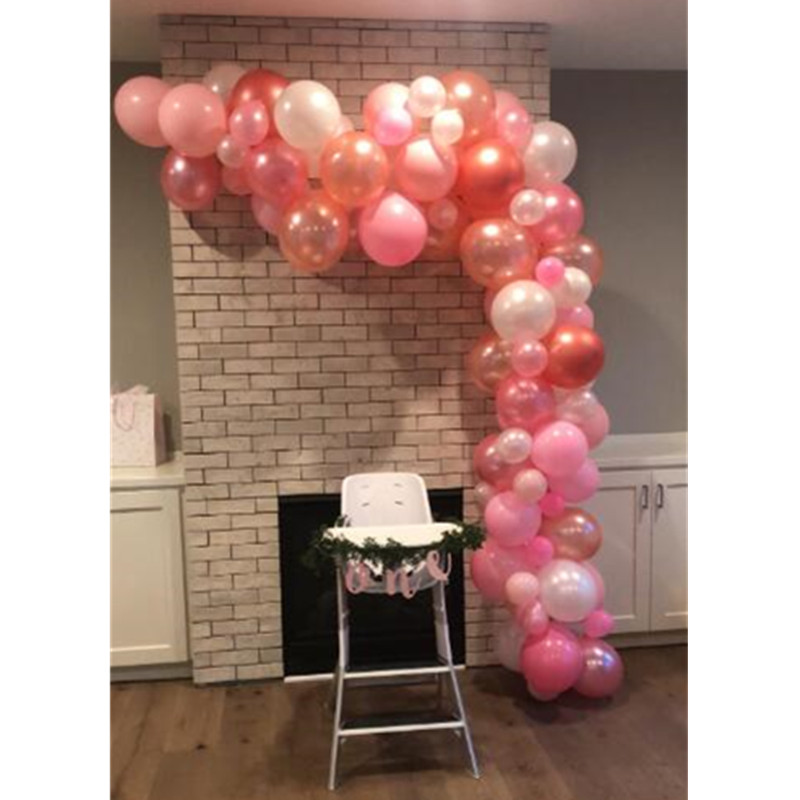 132 IN 1 Rose Gold Balloons Arch Strip Kit Set Wedding Party Garland Decoration