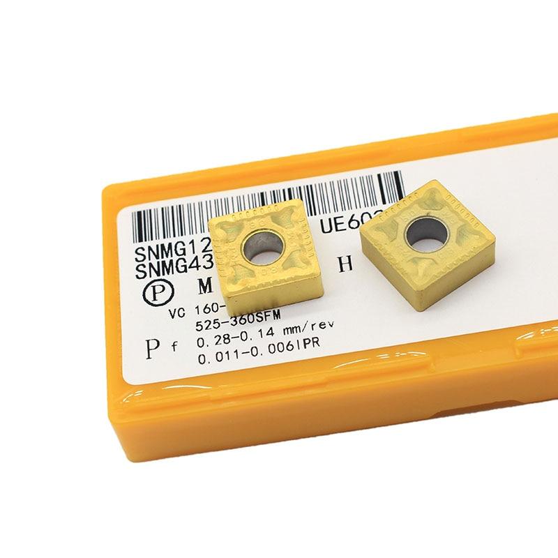 10 pçs snmg120408 pm ue6020 ferramentas de torneamento externo carboneto inserção torno ferramenta cortador tokarnyy torneamento inser