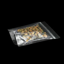 12*20cm Heat Sealable Clear Zip Lock Plastic Bag Transparent Doypack Coffee Tea Dried Food Top Zipper Packing Pouch 100pcs/lot
