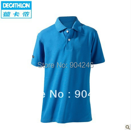 f5aaae5c47 Freeshipping DECATHLON Youngsters are short sleeve T-shirt golf contracted  lapel shirt